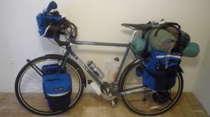 The bike fully loaded