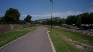 Bike path in Phoenix
