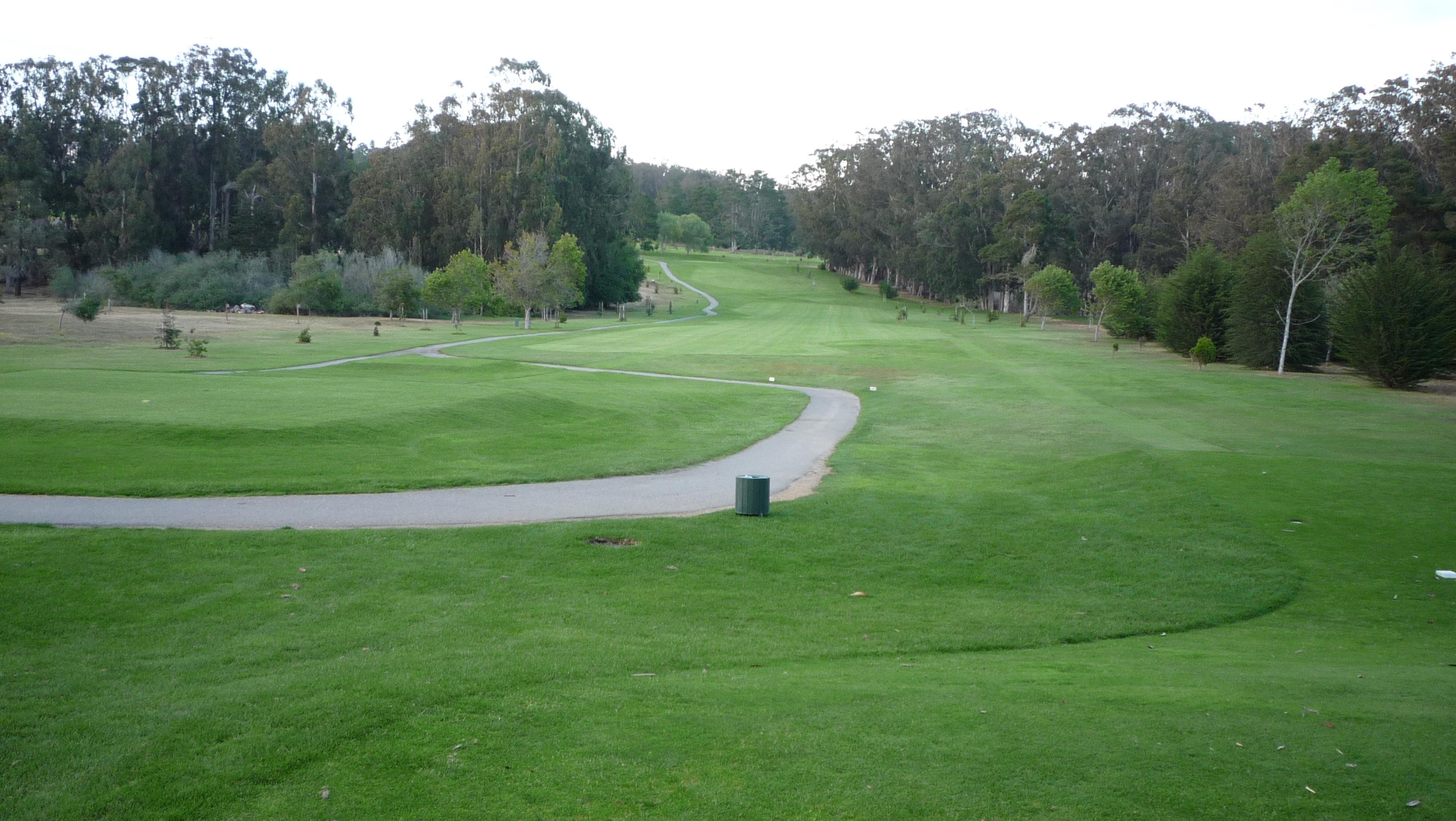 The golf course.