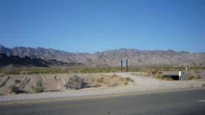 The desert in the morning.