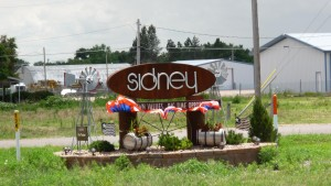 Sign for Sidney, NE