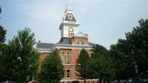 Pretty much every town for the next 500 miles would have a large courthouse that looked like this in the town square.