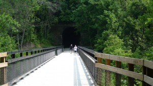 Old bridge and Tunnel on the Montour trail.