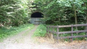 The only old tunnel on the trail that we didn't get to ride through.
