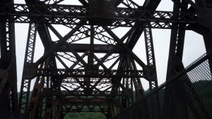 On another old railroad bridge.